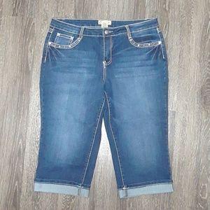 031bd5688ab Earl Jeans Jeans - ~NWOT~ Women s Earl Jean Capri s Plus Size 14